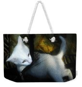 White Kitten Weekender Tote Bag