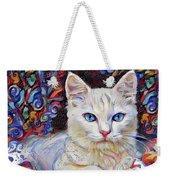 White Kitten With Blue Eyes Weekender Tote Bag
