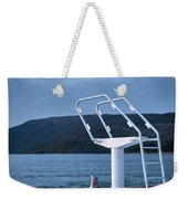 White Ladder Of A Diving Board At The Beach In Cres Weekender Tote Bag
