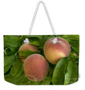 White Lady Peaches On A Branch Weekender Tote Bag