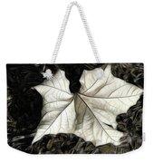 White Leaf On The Ground Weekender Tote Bag