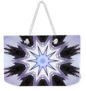 White-lilac-black Flower. Digital Art Weekender Tote Bag