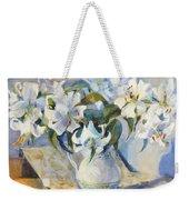 White Lilies In White Jug Weekender Tote Bag