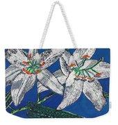White Lilies Weekender Tote Bag