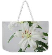 White Lily 2 Weekender Tote Bag