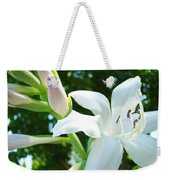 White Lily Flowers Art Prints Lilies Giclee Baslee Troutman Weekender Tote Bag