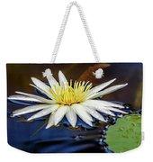 White Lily On Pond Weekender Tote Bag