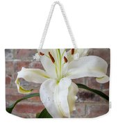 White Lily Portrait Weekender Tote Bag