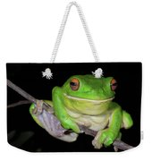 White-lipped Tree Frog Weekender Tote Bag