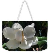 White Magnolia Flower 01 Weekender Tote Bag