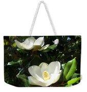 White Magnolia Flowers 01 Weekender Tote Bag