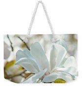 White Magnolia Tree Flower Art Prints Magnolias Baslee Troutman Weekender Tote Bag