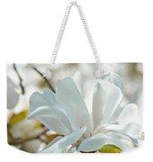White Magnolia Tree Flower Art Prints Magnolias Baslee Troutman Weekender Tote Bag