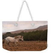 White Mare Gallops #1 - Panoramic Brighter Weekender Tote Bag