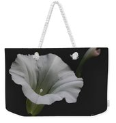 White Morning Glory Weekender Tote Bag