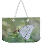 White Morpho Butterfly Weekender Tote Bag