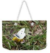 White Moth Weekender Tote Bag