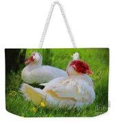 White Muscovy Ducks Weekender Tote Bag