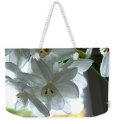 White Narcissi Spring Flower Weekender Tote Bag
