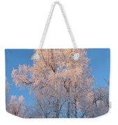 White On Blue Weekender Tote Bag
