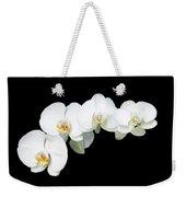 White Orchid Flower Weekender Tote Bag