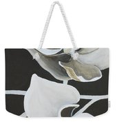 White Orchid Middle Section Weekender Tote Bag
