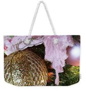 White Ornaments Holiday Card Weekender Tote Bag