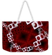 White Over Red Weekender Tote Bag