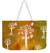 White Palms Gold Weekender Tote Bag