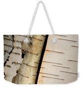 White Paper Birch Tree Bark Weekender Tote Bag