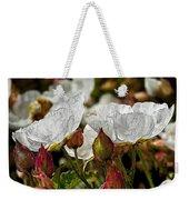 White Paper Petals Weekender Tote Bag