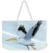 White Pelican 1 Roger Bansemer Weekender Tote Bag