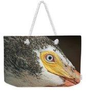 White Pelican Eye Weekender Tote Bag