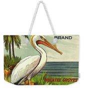 White Pelican Fruit Crate Label C. 1920 Weekender Tote Bag