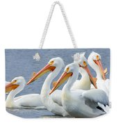 White Pelicans At Nelson Lake Weekender Tote Bag