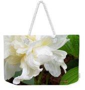 White Peonia Weekender Tote Bag