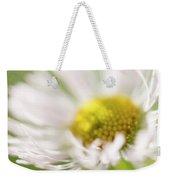 White Petal Flower Abstract Weekender Tote Bag
