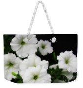 White Petunias Weekender Tote Bag
