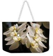 White Phalaenopsis Blossom Weekender Tote Bag