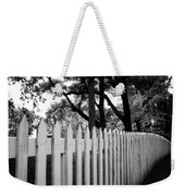 White Picket Fence- By Linda Woods Weekender Tote Bag