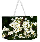 White Plum Blossoms Weekender Tote Bag