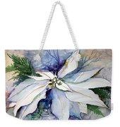 White Poinsettia Weekender Tote Bag