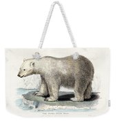 White Polar Bear On Ice Floe Weekender Tote Bag
