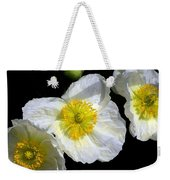 White Poppy Trio Photograph Weekender Tote Bag