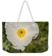 White Poppy With Buds Weekender Tote Bag