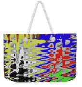 White Prickly Poppy Flower Color Abstract Weekender Tote Bag