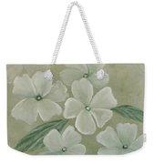 White Primula Weekender Tote Bag