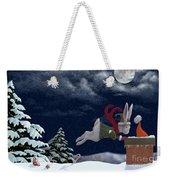 White Rabbit Christmas Weekender Tote Bag