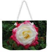 White Red Rose Weekender Tote Bag