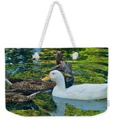 White Reflection Weekender Tote Bag